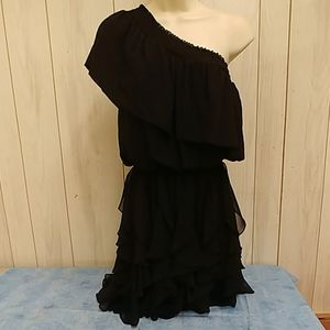 One Shoulder Black Dress by Jessica Simpson Small